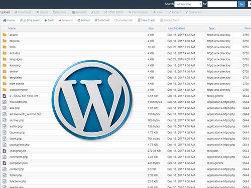 مرتب کردن فایل های قالب وردپرس