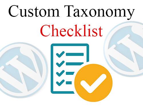 تعریف custom taxonomy